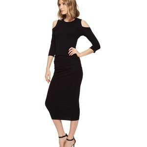 MICHAEL STARS Cold Shoulder Midi Dress!! Large